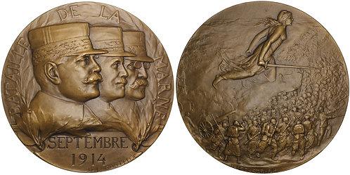 100906  |  FRANCE. Generals Joffre, Maunoury & Gallieni bronze Medal.