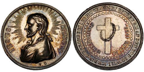 100178  |  GERMANY. Jesus Christ silver Confirmation Medal.