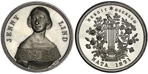 101586  |  SWEDEN & GREAT BRITAIN. Jenny Lind white metal Medal.