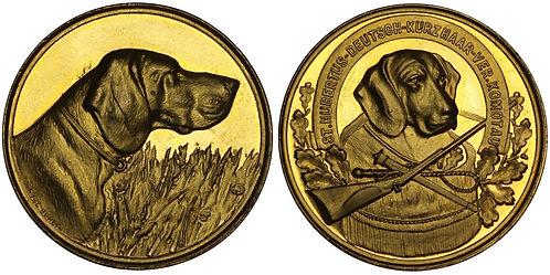 101140  |  GERMANY & CZECH REPUBLIC. Chomutov/Komotau. Gilt bronze award Medal