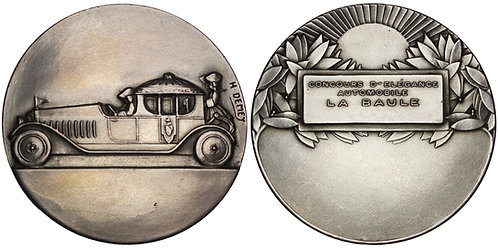 100684  |  FRANCE. La Baule Automobile silver Award Medal.