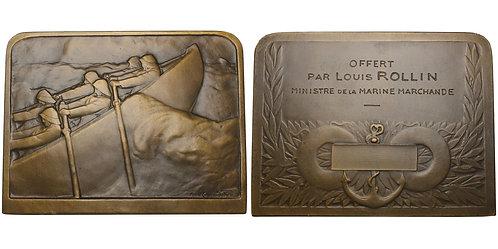 "100781  |  FRANCE. ""Sauvetage en mer"" bronze Award Plaque."