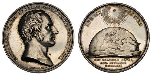 100117     SWEDEN. Gustaf af Klint silver Medal.