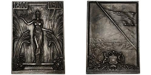 101121  |  CHILE. Lalique silver Plaque.