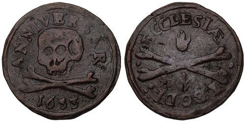100417  |  BELGIUM. Luik (Liège). Chapter of St. Lambert's bronze Méreau.