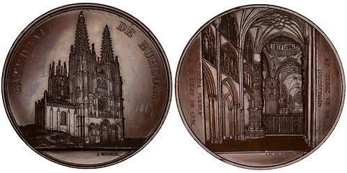 101261  |  SPAIN. Burgos. Cathedral of St. Mary bronze Medal.