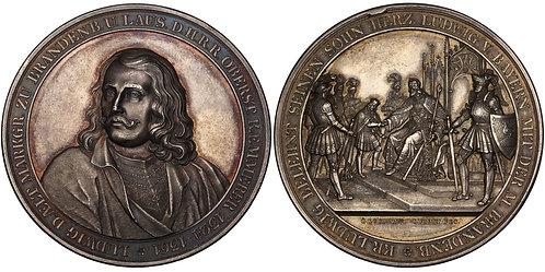 100553  |  GERMANY. Brandenburg. Ludwig I silver Medal.