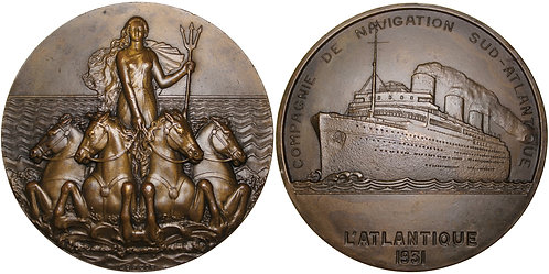 100261  |  FRANCE. Compagnie de Navigation Sud-Atlantique bronze Medal.