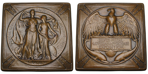 100576  |  UNITED STATES. Louisiana Purchase/St. Louis Expo bronze award Medal.