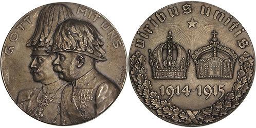100508  |  AUSTRIA-HUNGARY & GERMANY. Franz Joseph & Wilhelm II Medal.