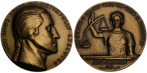 100156  |  UNITED STATES. Bronze Medal. The Degradation of our Justice System.