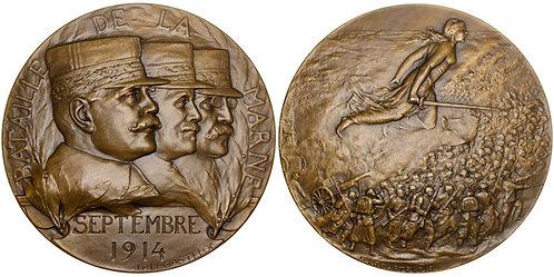 101585     FRANCE. Generals Joffre, Maunoury & Gallieni bronze Medal.