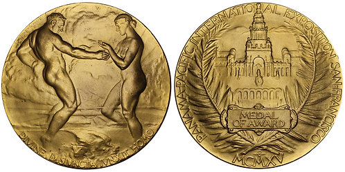101118  |  UNITED STATES. Panama-Pacific Int'l Expo gilt bronze award Medal.