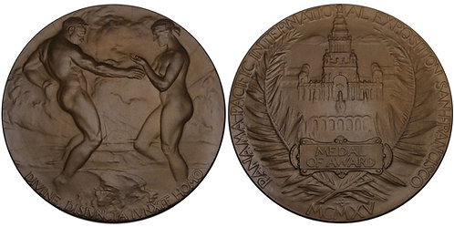 100578  |  UNITED STATES. Panama-Pacific Int'l. Exposition bronze award Medal.