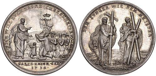 100034 | AUSTRIA/GERMANY. Salzburg/Prussia silver Medal.