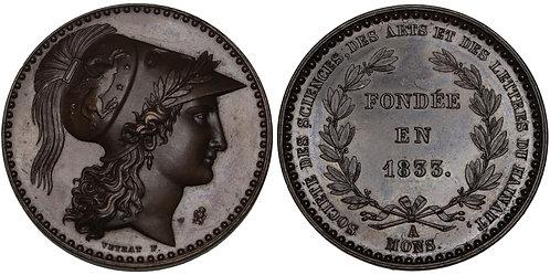 100255  |  BELGIUM. Mons bronze Medal.