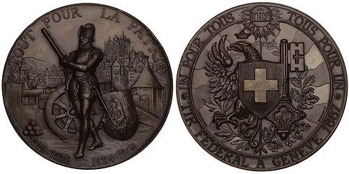 101136  |  SWITZERLAND. Bronze Schützenmedaille (Shooting Medal).