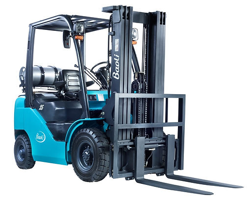 white background  forklift photographer