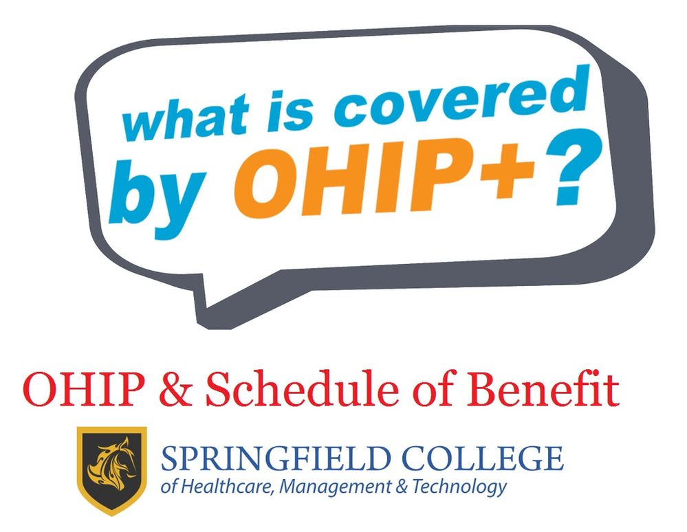 ONTARIO HEALTH INSURANCE PLAN (OHIP) AND SCHEDULE OF BENEFITS