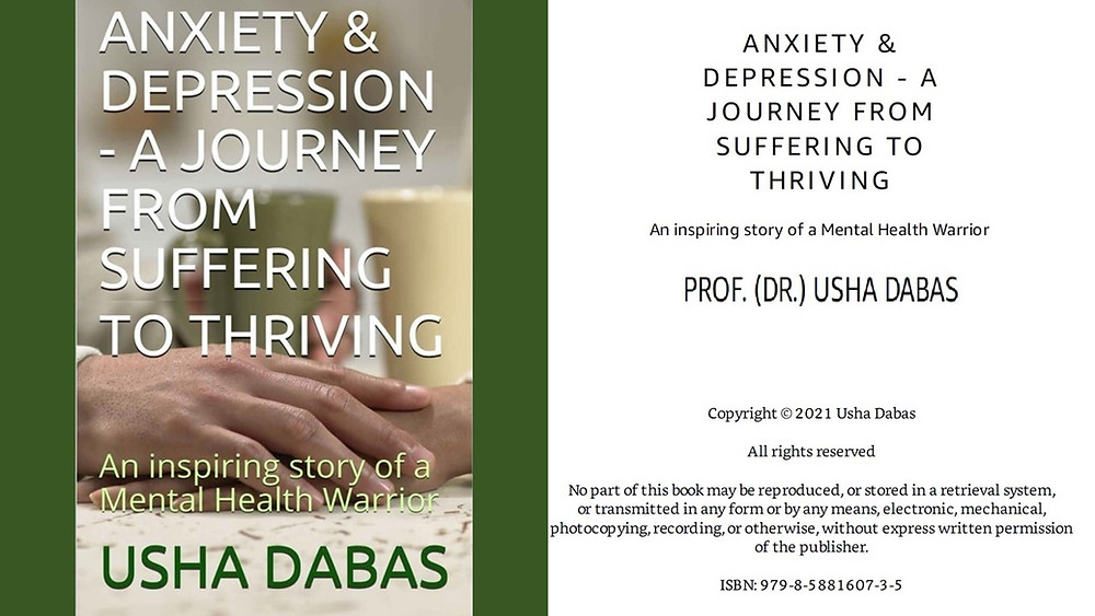ANXIETY & DEPRESSION - A JOURNEY FROM SUFFERING TO THRIVING-USHA DABAS