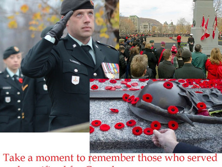 Remembrance Day - A salute to our Veterans