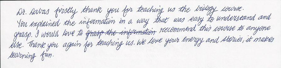 MOA student's appriciation remarks