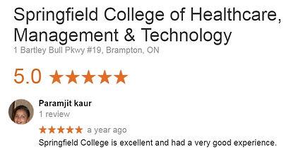 Springfield College Brampton Student Review