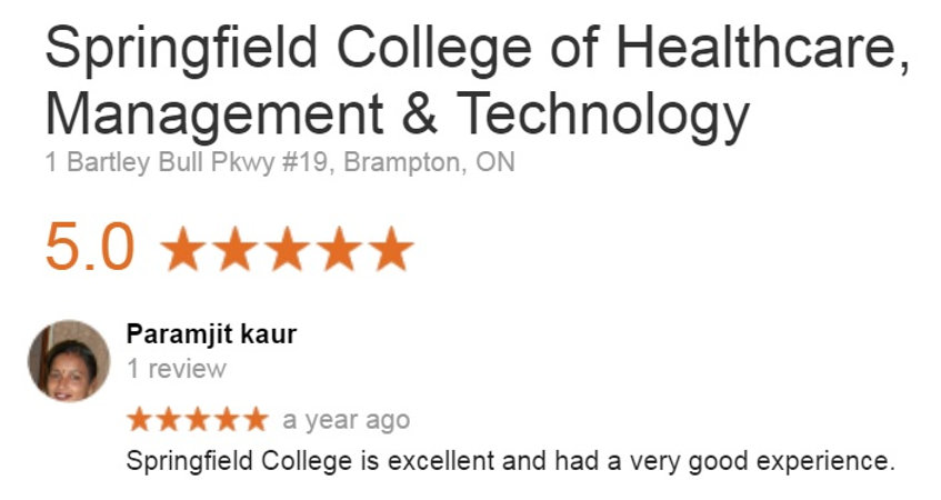 Springfield College Student review