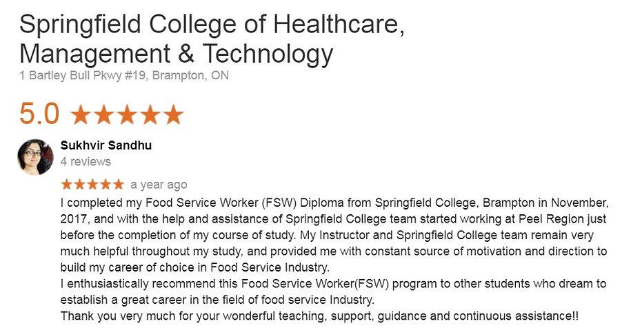 FSW Diploma Student testimonial