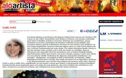 Site Alô Artista