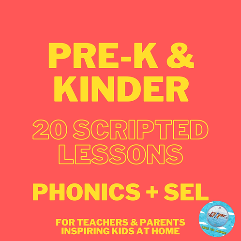 20 Scripted Lessons for PK-K: Phonics + SEL