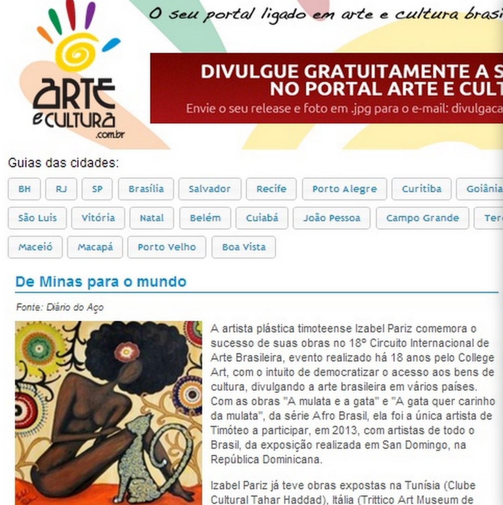Site Arte e Cultura