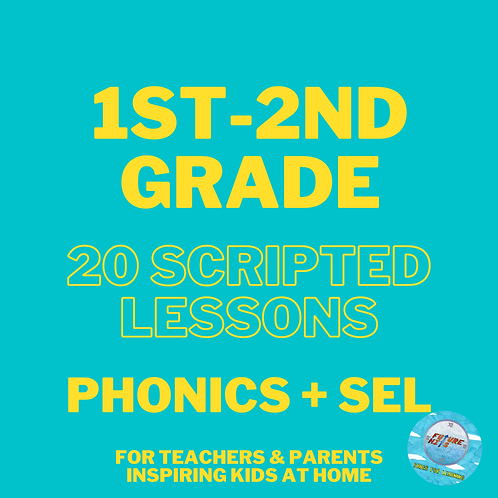 20 Scripted Lessons for 1st-2nd: Phonics + SEL