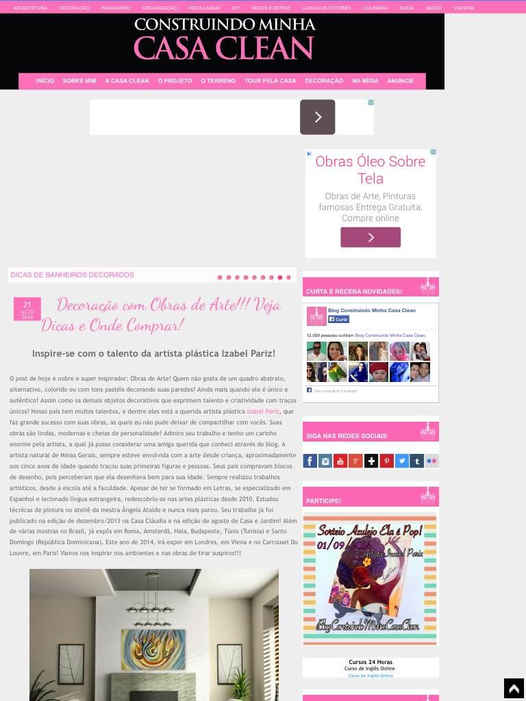 Blog Construindo Minha Casa Clean