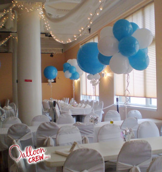 "Topiarty and 36"" centerpieces"