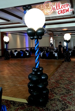 Lit Dance Floor Columns