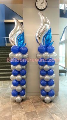 Blue Flame Columns