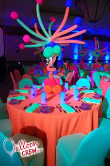 Neon Burst Centerpiece