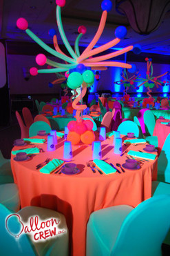 Neon Burst Centerpiece