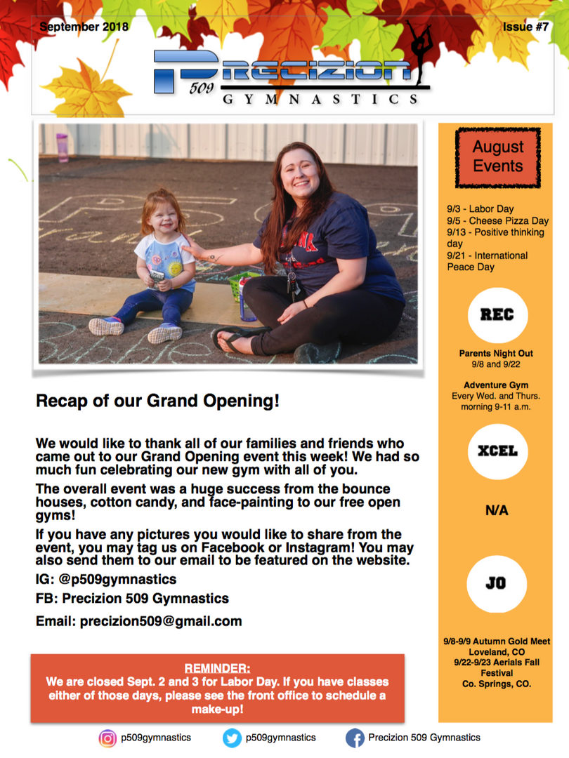 Sept. 2018 Newsletter pg1