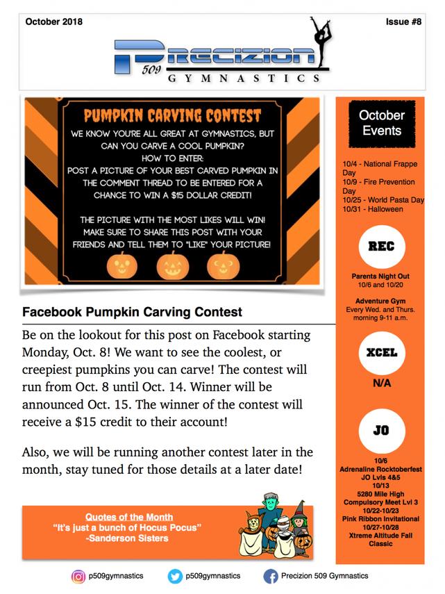 Oct. 2018 Newsletter Pg. 1