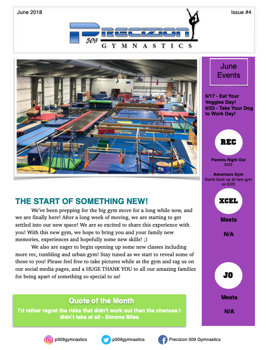 June Newsletter 2018 Pg1