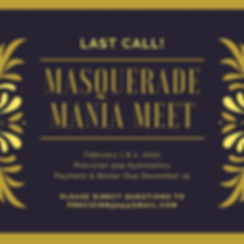Dark Purple and Gold Masquerade Invitati