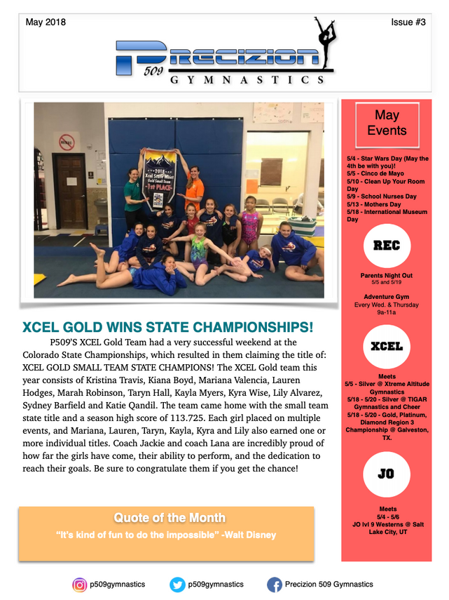 May Newsletter 2018 Pg.1