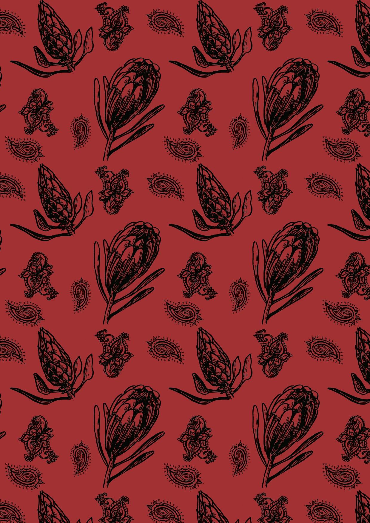 プロテアの壁紙(赤)