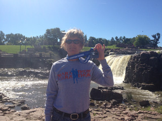 SOUTH DAKOTA!!!  NOT AS FLAT AS THEY SAID, SOUIX FALLS, YES!!! NUMBER 20!
