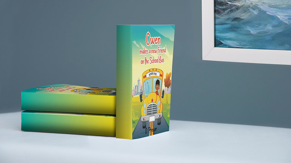 Signed Hardcover-Owen makes a new Friend on the School Bus