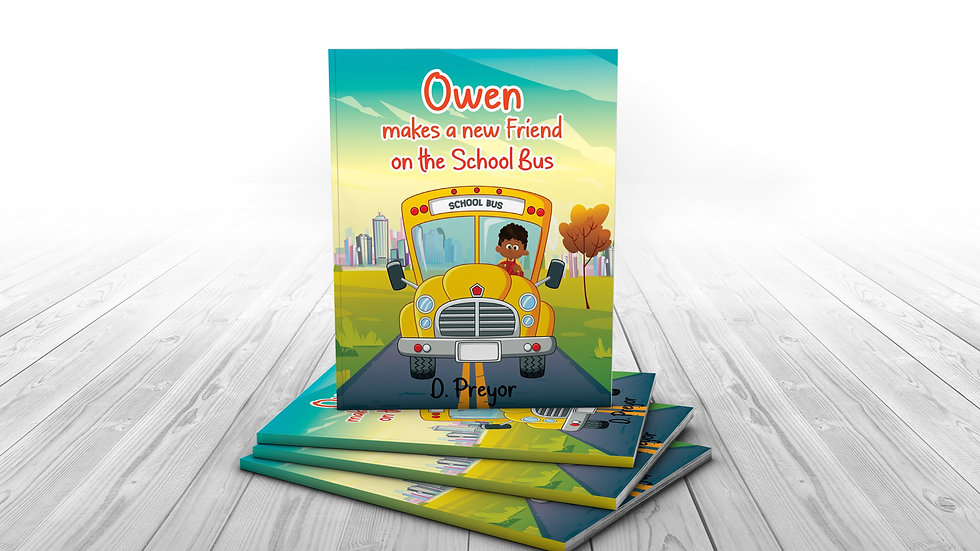 Signed Paperback-Owen makes a new Friend  on the School Bus