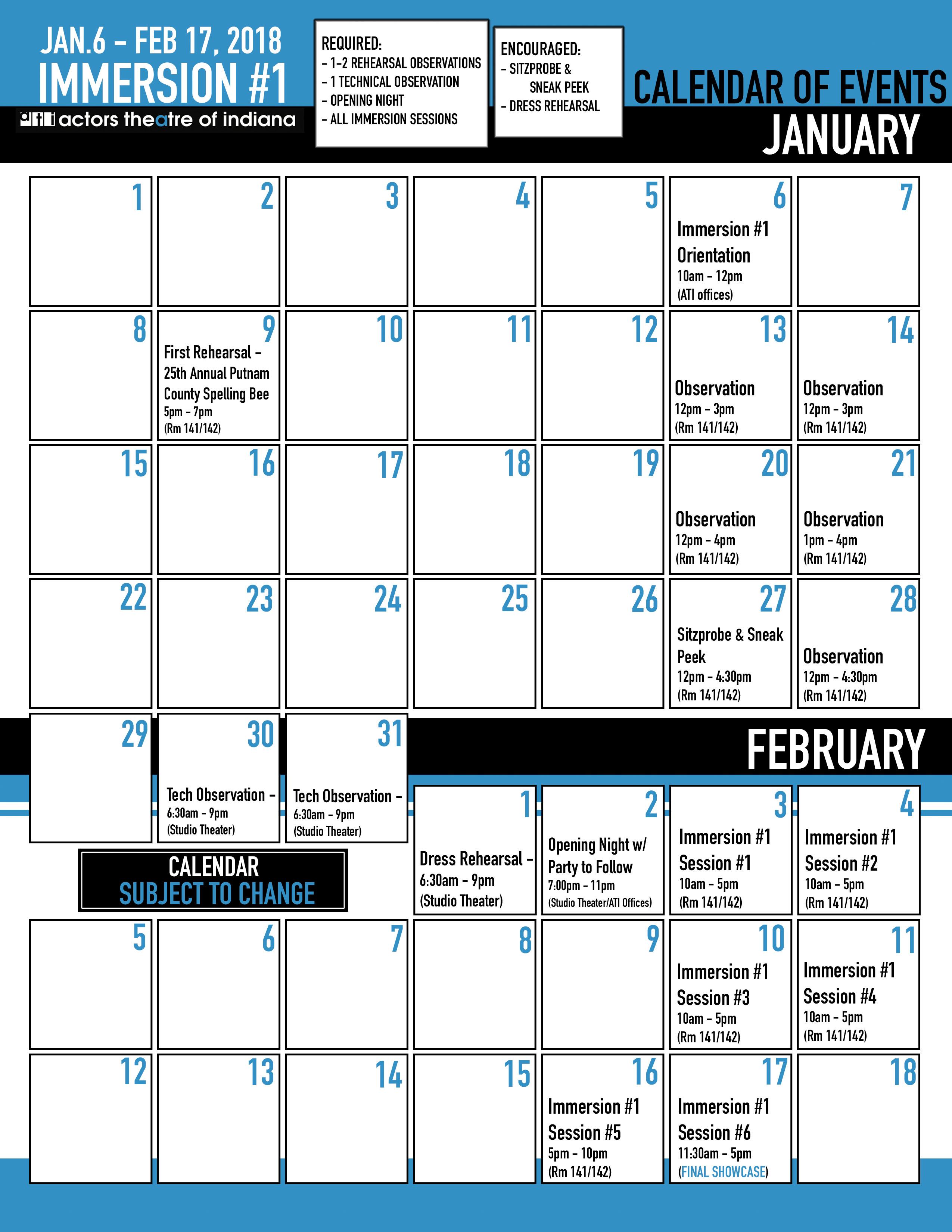 ATI Calendar