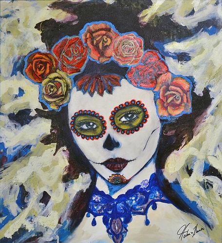 """""""Rosa Azul"""" Fine Art Giclée Print on Canvas"""